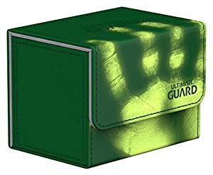 Ultimate Guard UGD010855 Sidewinder 80 Plus ChromiaSkin - Funda para Tarjetas, Color Verde