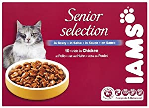 Iams Senior And Mature Wet Cat Food 10 X 100 G Pouches Pack Of 2 from Procter & Gamble