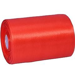 Idea Regalo - Outus largo nastro di raso colore solido, decorazione nastro lato singolo, rosso, 20 m.