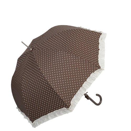Zauberhafter Nostalgie Regenschirm * Braun mit Herzen * von Clayre & Eef