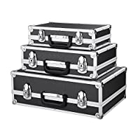 3PCS Lockable Tool Box Aluminum Storage Cases Portable Multi-purpose Storage Case With Handle Lockable Clasp Large/Middle/Small Size - iKayaa