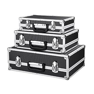 iKayaa 3er Set Transportkoffer Werkzeugkoffer mit Aluminiumrahmen und ABS