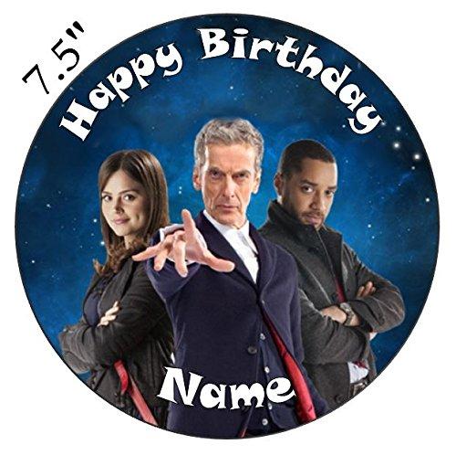 personalisierbar DR WHO?Doctor Who Essbarer Zuckerguss Kuchen Topper 19,1cm vorgeschnittenen - Rund