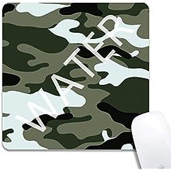 Alfombrilla de Ratón de Juego Camuflaje,Mouse Pad Mat Tela Base de Caucho Compatible con Ratón Láser y óptico Negro 1T1701