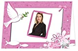 Konfirmation Danksagungen - eigener Text wird eingedruckt, für Mädchen mit Foto, DIN A6 groß (zugeklappt) - 70 Karten