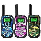 HUAYUU®Kids Walkie Talkies 3 Pack, Upgraded Version Camouflage Exterior 2 Way Radio Toy