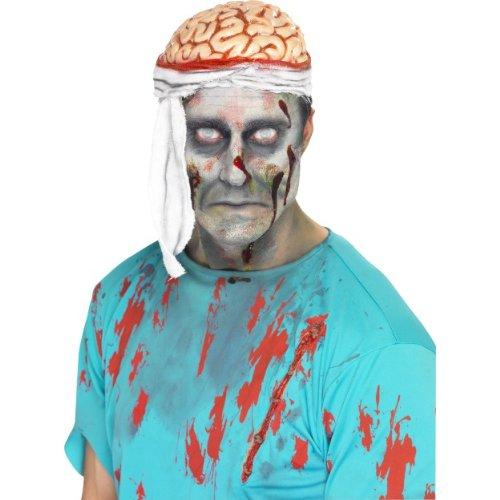 behör offenes Schädel mit Gehirn Horror Hut zum Kostüm (Gehirn Hut Kostüm)