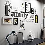 Unbekannt Global- 9 Multi Bilderrahmen Set Kiefer Holz Kreativ Portfolio Moderne Wohnzimmer Wand Foto Bild Wandrahmen/mit Bildern (Farbe : Schwarz+Weiss)