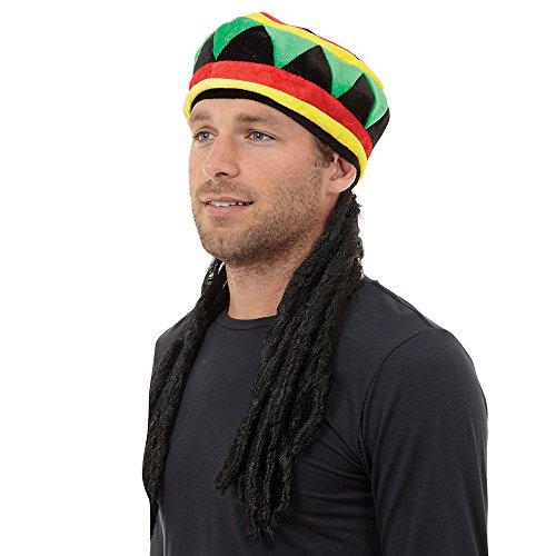 1Rasta Hat und Haar, mehrfarbig, one size (Weihnachten Urlaub Themen Kostüme)