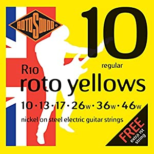Rotosound Nickel Regular Gauge Electric Guitar Strings (10 13 17 26 36 46)