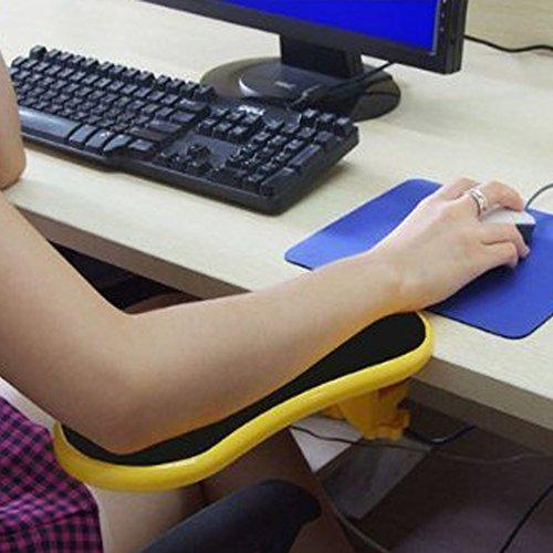 Yanghx estensore per scrivania per computer ergonomico regolabile Giallo.