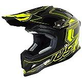 Just 1 Helmets 606320080101306 Casco J12 Carbon Fluo Giallo, XL