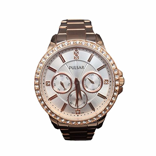PULSAR WOMEN'S 28MM ROSE GOLD-TONE STEEL BRACELET & CASE QUARTZ WATCH PP6148