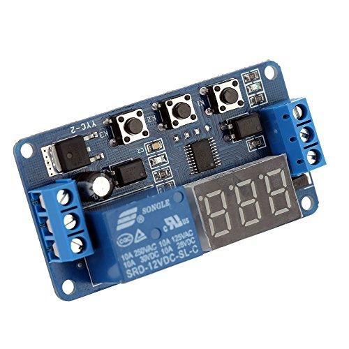 KKmoon 12V/24V DC Digital Delay Timer Steuerungsschalter Relaismodul LED Anzeige Automation¡