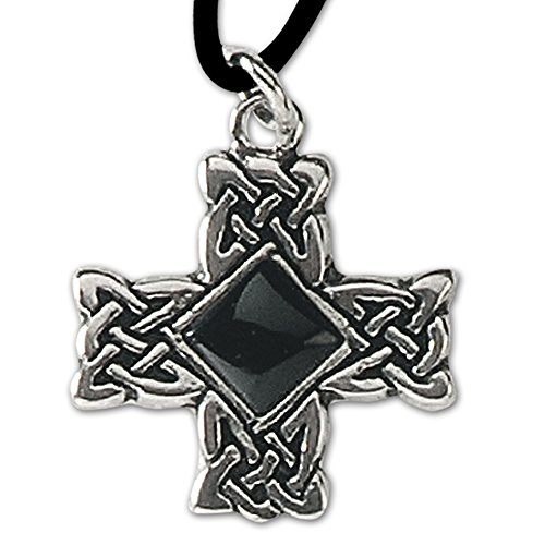 Anhänger Druidenkreuz Keltisches Kreuz Silber Keltenkreuz Amulett mit Lederhalsband Celtic Schmuck - Womens Schmuck Celtic