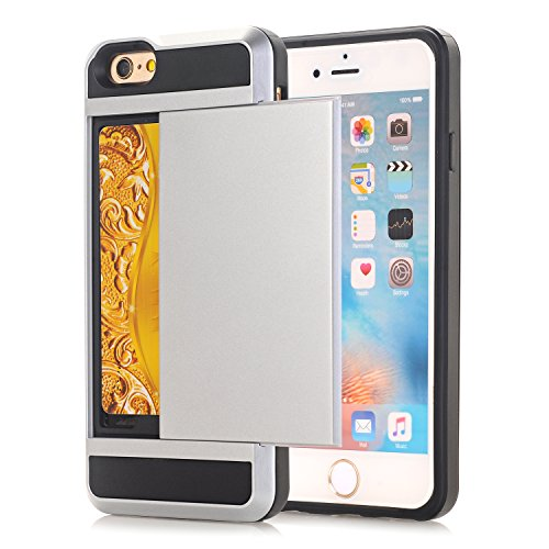 iPhone SE Hülle,EVERGREENBUYING [Slider Series] Abnehmbare Hybrid Schein iPhone 5E Tasche Ultra-dünne Schutzhülle TPU Fall Geschützt Cover für iPhone 5 / 5s / se Tadelloses Grün Silber