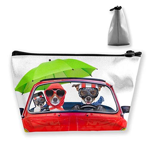 Hunde zwei Jack Russell Terrier Kosmetik Make-up Tasche/Beutel/Clutch Travel Case Organizer Aufbewahrungstasche -