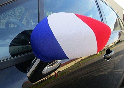 KONTARBOOR Copa del Mundo FIFA 2018Rusia * * * PACK de 2fundas standard bandera francés para espejos retrovisores de coches