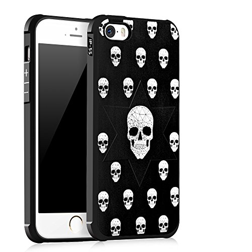 UKDANDANWEI Apple iPhone 5 [QKS] TPU Souple Housse de Protection Case Téléphone Pour Apple iPhone 5 - Style(04) Style(08)