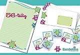 Neu! Herzallerliebstes Bambehina Eulen-Briefpapier, 56 Teile, Sticker, Kuverts