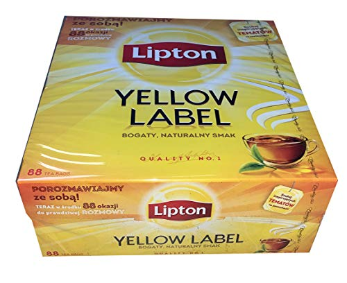 Lipton Yellow Label Tea Quality No. 1 88 Teebeutel Schwarzer Tee