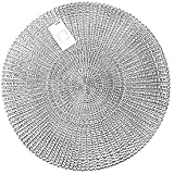 Inspire 42 cm Round PVC Silver Akari Placemat Set Of 4