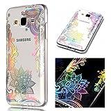 ZCRO Hülle für Samsung Galaxy J3 2016 / J320, Handyhülle Ultra Dünn Case Silikon Schutzhülle Transparent Hüllen Slim Cover Blumen Muster Weich Klar Silikonhülle für Galaxy J3 2016/J320 (Blume)