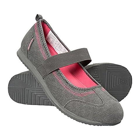 Mountain Warehouse Chaussures Charles IX en toile pour femmes Gris foncé 39