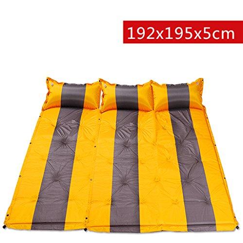 TYJ Picknick-Decken Automatisches Aufblasbares Auflage-Zelt Kann Gespleißtes Doppeltes Feuchtigkeitsfestes Auflage-Auflage-Matten-Gelb Sein ( Farbe : Gelb , größe : 192*195*5cm )