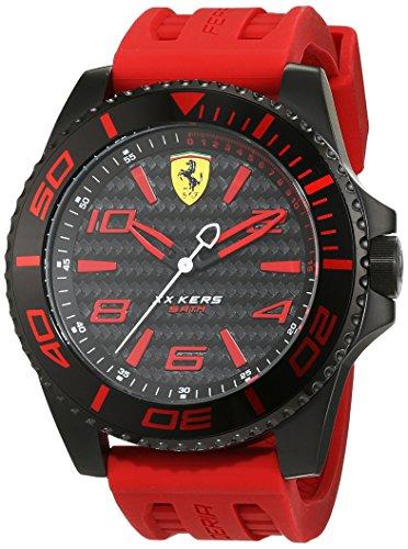Ferrari 0830308 XX Kers - Reloj analógico de pulsera para hombre (cuarzo, correa de silicona)