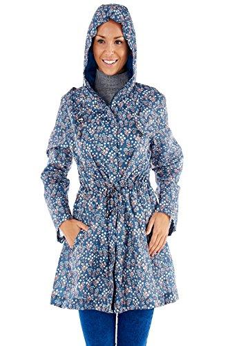 Pro Climate -  Giacca impermeabile  - Parka - Donna Flower - Teal Blue