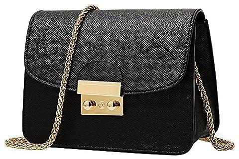 Honeymall Kleine Damentasche Umhängetasche Citytasche Schultertasche Handtasche Elegant Retro Vintage Tasche Kette