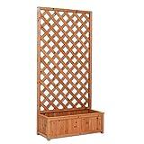 EV Platte aus Holz rechteckig mit Blumenkübel a Netz Außenbeleuchtung Garten Zäune Raumteiler 90x 180cm