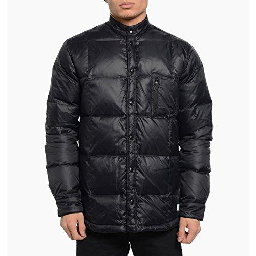 Piumino d' oca Bonded Zip Invernale da uomo adidas Originals Giacca taglio RRP £130, Black, S
