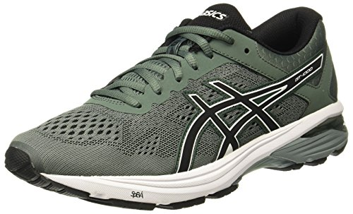 ASICS Men's GT-1000 6 Dark Forest/Black/White Running Shoes - 9 UK/India (44 EU)(10 US)(T7A4N.8290)