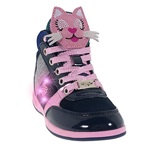 Lelli Kelly sneakers gattino blu bambina 6406 autunno inverno 2017, eu 27
