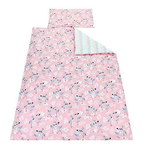 TupTam Kinder Bettwäsche Gemustert 2-Teilig, Farbe: Flamingo Rosa, Größe: 135x100 cm