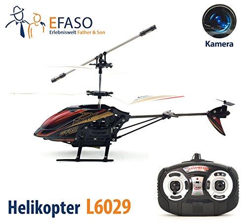 #efaso RC Helikopter L6029 2,4 GHz 3-Kanal Hubschrauber mit Kamera, Gyroskop, LEDs, RTR#