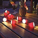 batteriebetriebene Party Lichterkette mit 10 beleuchteten, roten