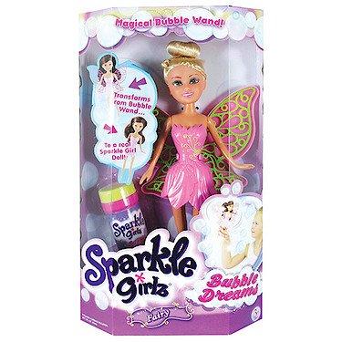 Sparkle Girlz – Bubble Dreams – Fée des Bulles – Poupée Mannequin 17 cm + Liquide à Bulle