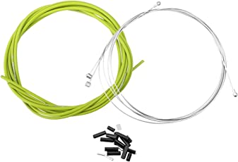 Generic Cycling Bike Bicycle Housing Cable Brake Gear Shifter Kit Complete Set Green