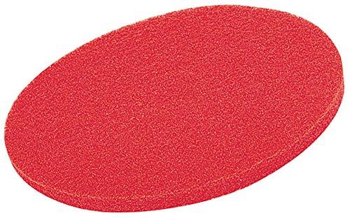 poliuretano termoplástico, borde gris claro, color rojo Metalliform CBSQ-11C-PS-LG-53-LG-Red Mesa curvada