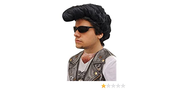 Perruque Fonzy avec banane rock homme: Amazon.