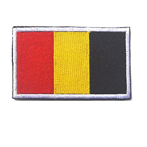 1 3D Stickerei Armband Belgien Flagge Patch Tuch Patch