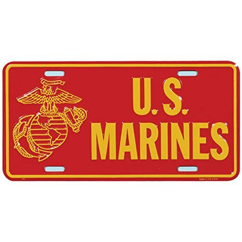 Preisvergleich Produktbild USMC Globe & Anchor License Plate by Honor Country
