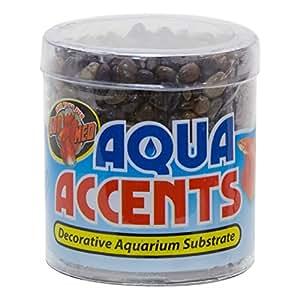 Zoo Med BA-1 Aqua Accents Dark River Pebbles 0.5lb by ZOO MED LABORATORIES