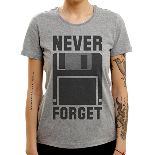 Never Forget Silicon Valey Folppy Disc Classic Large Donne T-Shirt