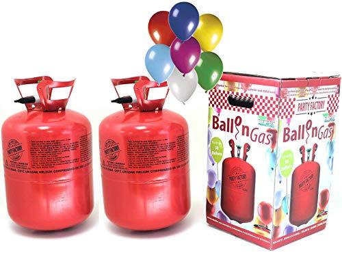 m Heliumflasche Heliumgasflasche Ballongas Heliumgas Einweg bis 60 Luftballons Folienballons mit 50 Ballons ()