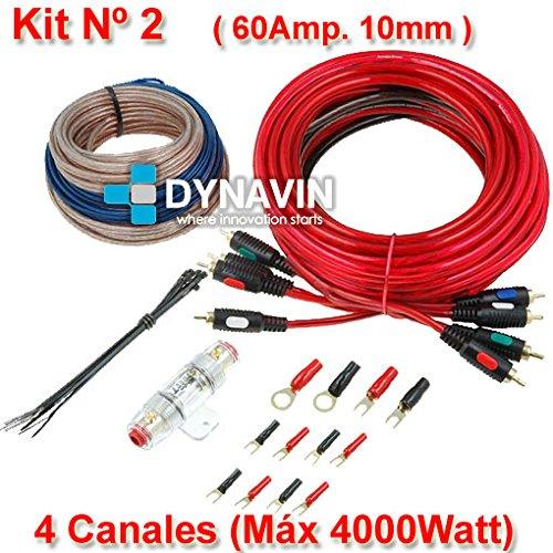 KIT 2 - Kit de instalación, juego de cables para instalar amplificadores...
