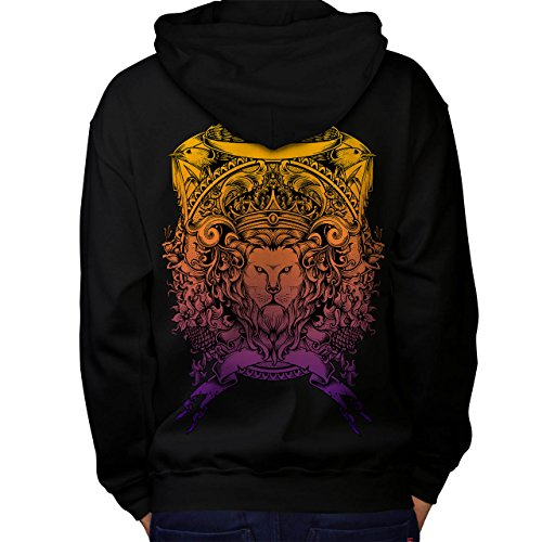 King Animal Lion Face Mad Men M Kapuzenpullover Zurück | Wellcoda (Mad Men-anzug)